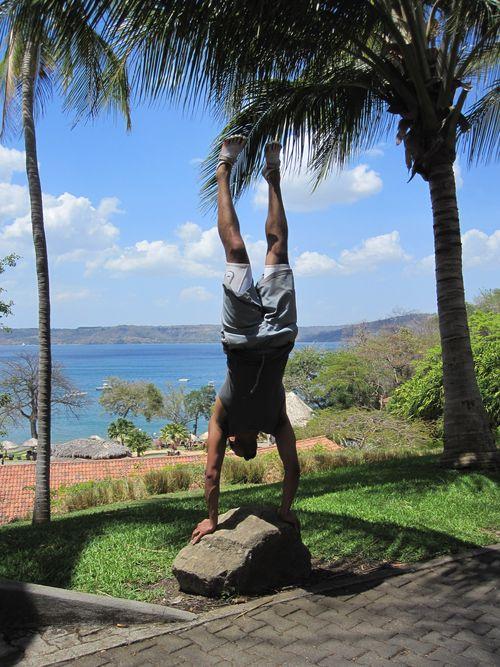 Frank Handstand in Costa Rica